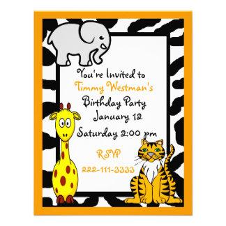 Invitation d anniversaire de safari de faune