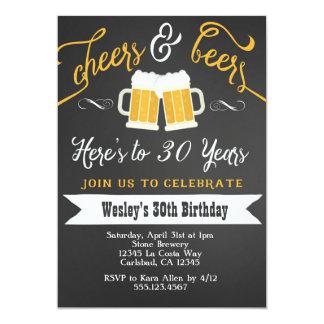 Invitation d'acclamation et de fête d'anniversaire