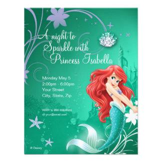 Invitation d'anniversaire d'Ariel
