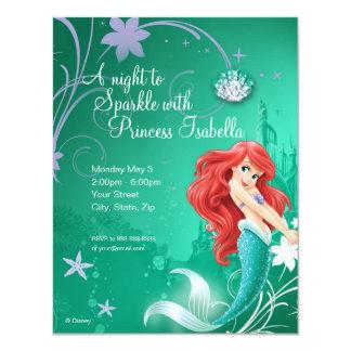 Invitation d'anniversaire d'Ariel Carton D'invitation 10,79 Cm X 13,97 Cm
