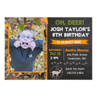 Invitation d'anniversaire de chasse de Camo de
