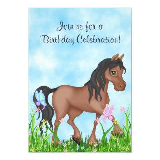 Invitation d'anniversaire de cheval et de