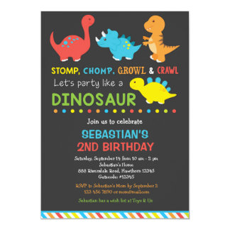 Invitation d'anniversaire de Dino, invitation de