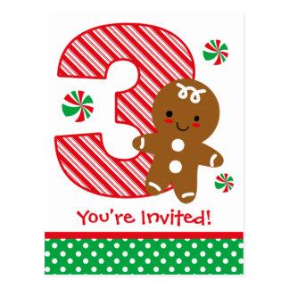 Invitation d'anniversaire de garçon de pain d'épic cartes postales