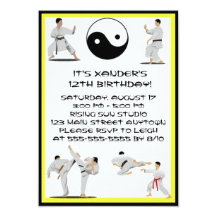 Carte Anniversaire Karate.Invitations Faire Part Cartes Anniversaire De Karate