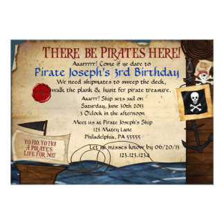 Invitation d'anniversaire de pirate