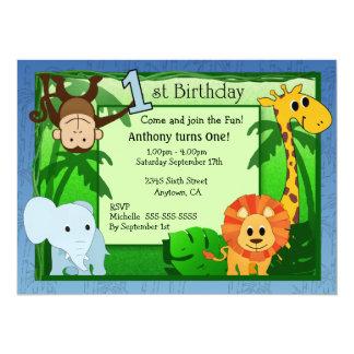 Invitation d'anniversaire de thème de jungle ?ère