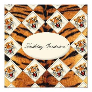 Invitation d'anniversaire de tigre