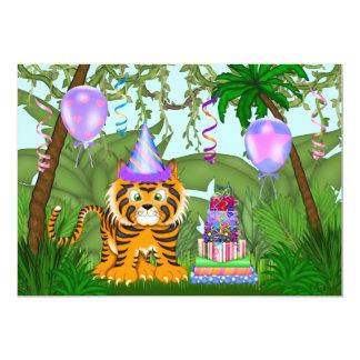 Invitation d'anniversaire de tigre de Bengale de