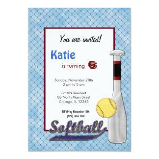 Invitation d'anniversaire du base-ball