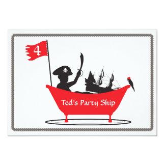 Invitation d'anniversaire - garçon de pirate