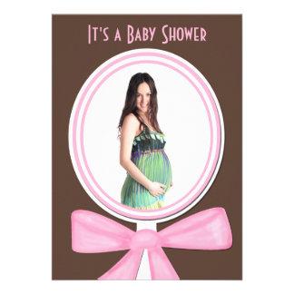 Invitation de baby shower avec la photo ou l image