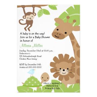 Invitation de baby shower d Animails de bébé de ju