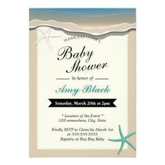 Invitation de baby shower d étoiles de mer de thèm