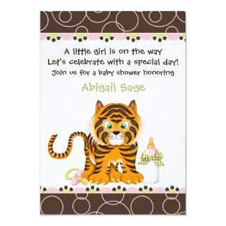 Invitation de baby shower de jungle de tigre pour