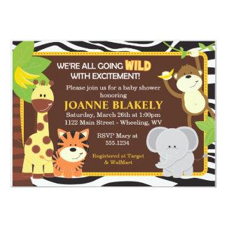 Invitation de baby shower de safari de jungle