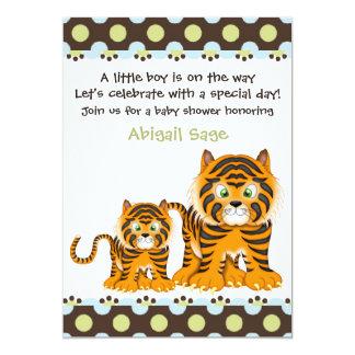 Invitation de baby shower de tigre pour des carton d'invitation  12,7 cm x 17,78 cm