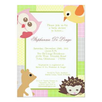 Invitation de baby shower de Woodla de fille