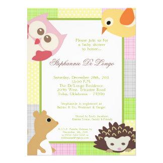 Invitation de baby shower de Woodla de fille d amo