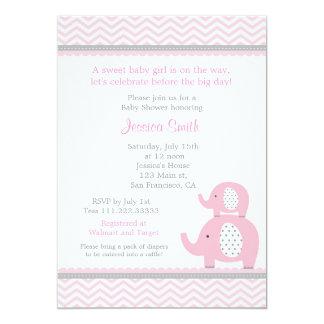 Invitation de baby shower d'éléphant