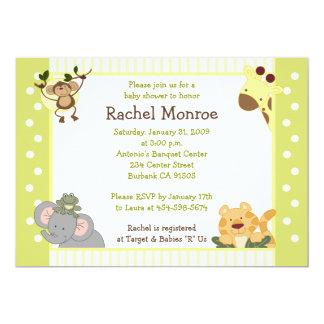 Invitation de baby shower des amis 5x7 de safari carton d'invitation  12,7 cm x 17,78 cm