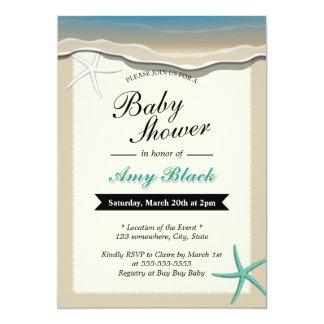 Invitation de baby shower d'étoiles de mer de