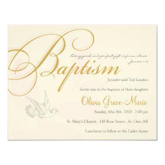 Invitation de baptême de fille