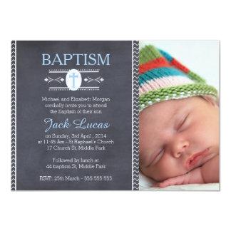 Invitation de baptême de tableau de photo de carton d'invitation  11,43 cm x 15,87 cm