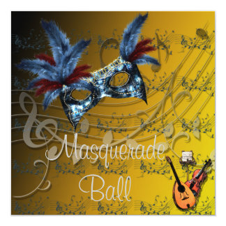 Invitation de boule de mascarade de couleurs de