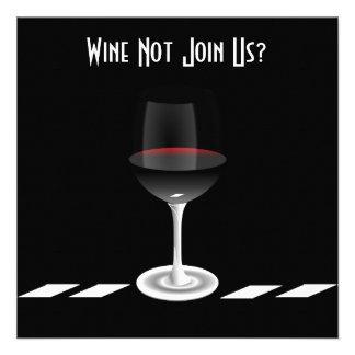 Invitation de cocktail en noir et blanc