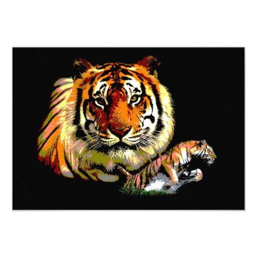 Invitation de collage de tigre