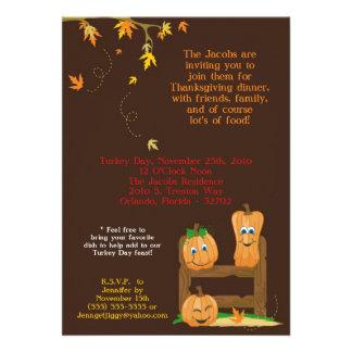 invitation de dîner de thanksgiving de l automne 5