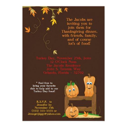 invitation de dîner de thanksgiving de l'automne 5