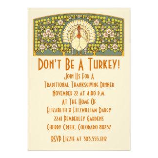 Invitation de dîner de thanksgiving de Nouveau Tur