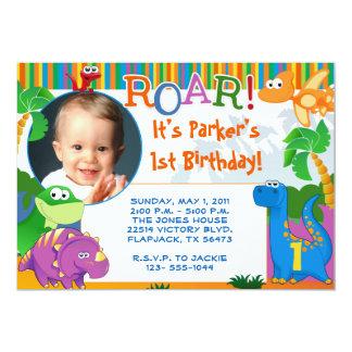 Invitation de dinosaure - anniversaire de enfant carton d'invitation  12,7 cm x 17,78 cm