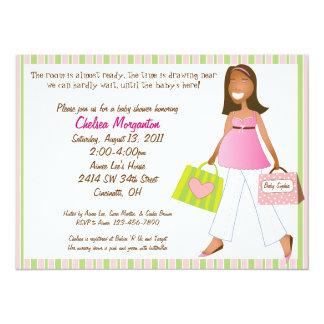 Invitation de douche de bébé de maman d'achats