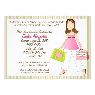 Invitation de douche de bébé de maman d'achats ave