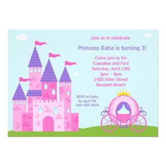 Invitation de fête d anniversaire de princesse