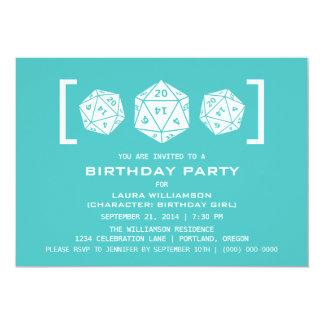 Invitation de fête d'anniversaire de Gamer de
