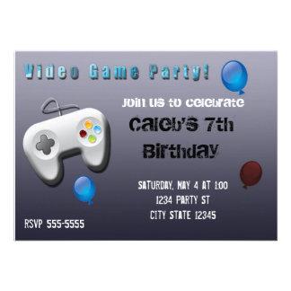 Invitation de fête d'anniversaire de Gamer de jeu