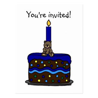 invitation de fête d'anniversaire de petit garçon cartes postales
