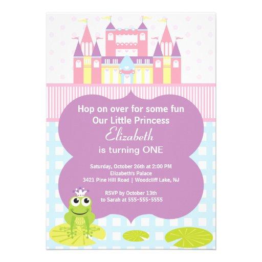 Invitation de fête d'anniversaire de princesse de