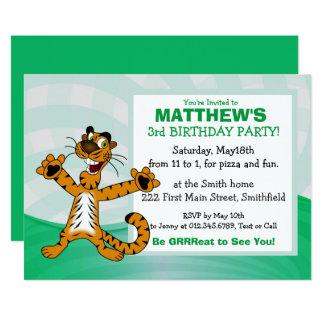 Invitation de fête d'anniversaire de tigre