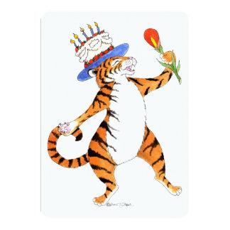 Invitation de fête d'anniversaire de tigre de