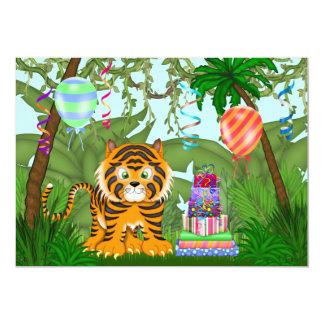 Invitation de fête d'anniversaire de tigre de carton d'invitation  12,7 cm x 17,78 cm