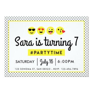Invitation de fête d'anniversaire d'Emoji