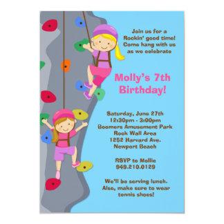 Invitation de fête d'anniversaire d'escalade de carton d'invitation  12,7 cm x 17,78 cm