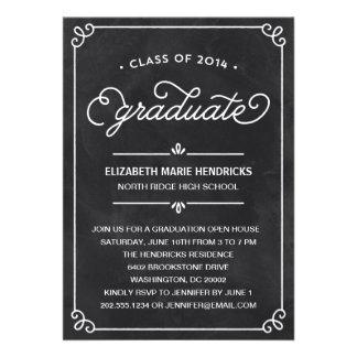 Invitation de fête de remise des diplômes de cadre