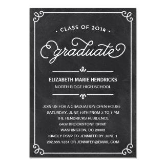 Invitation de fête de remise des diplômes de cadre carton d'invitation  12,7 cm x 17,78 cm