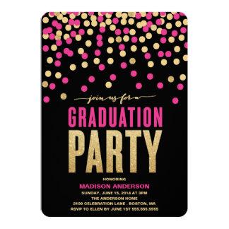 Invitation de fête de remise des diplômes de carton d'invitation  12,7 cm x 17,78 cm